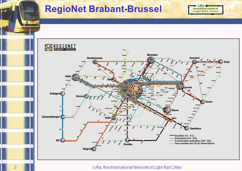 LiRa: the International Network of Light Rail Cities2 Background: Geographical setting
