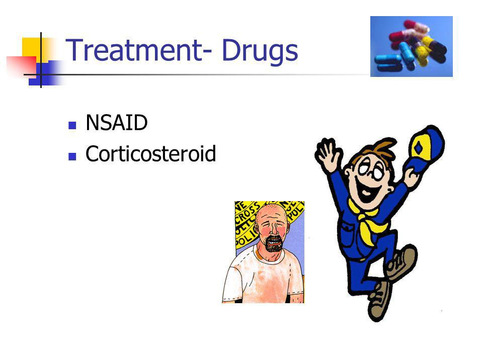 Treatment- Drugs NSAID Corticosteroid