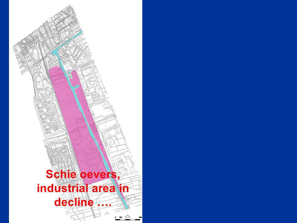 Schie oevers, industrial area in decline ….