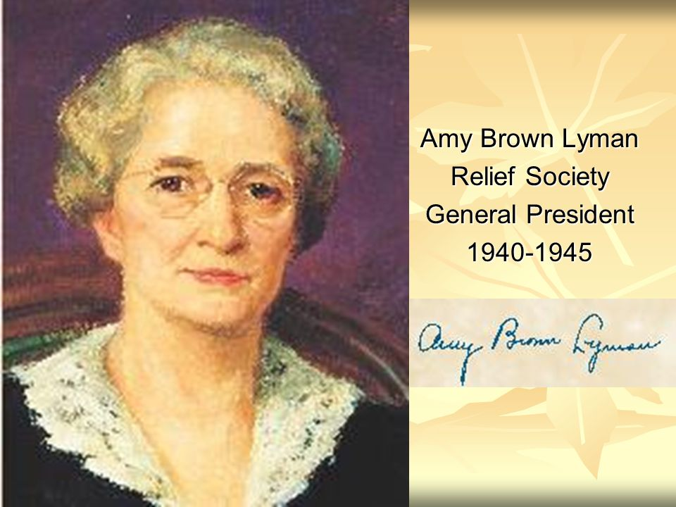 Amy Brown Lyman Relief Society General President