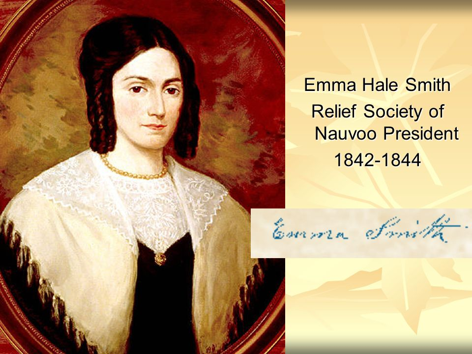 Emma Hale Smith Relief Society of Nauvoo President 1842-1844