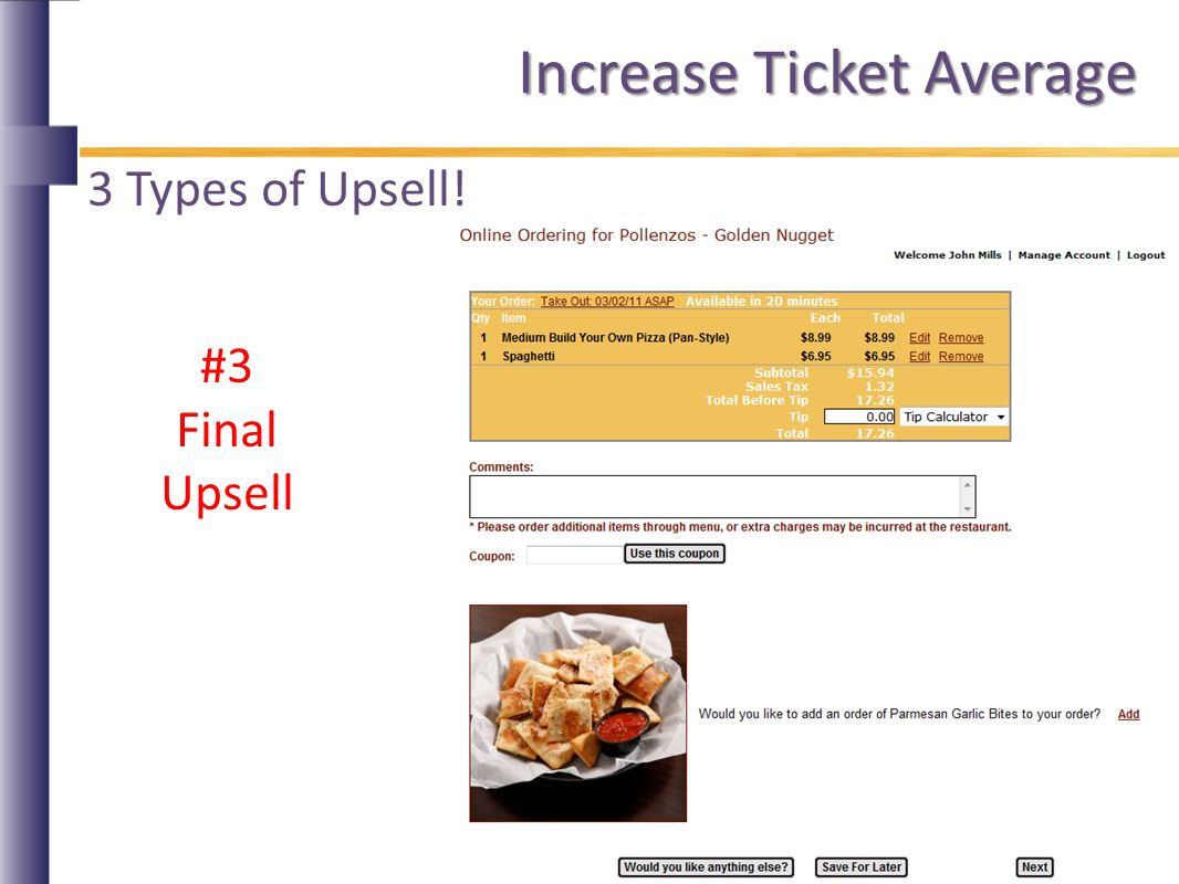 Increase Ticket Average 3 Types of Upsell! #3 Final Upsell