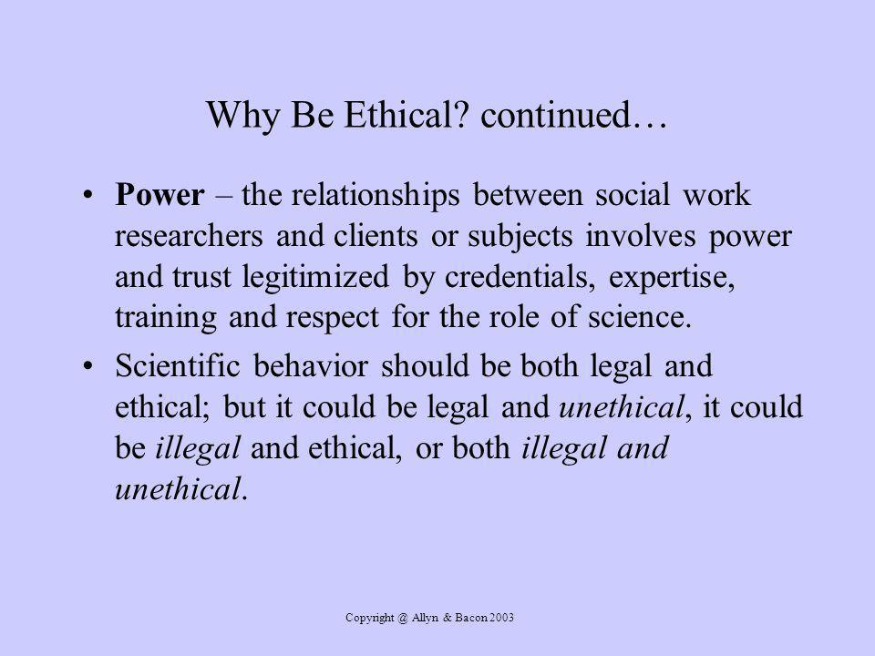 Allyn & Bacon 2003 Why Be Ethical.