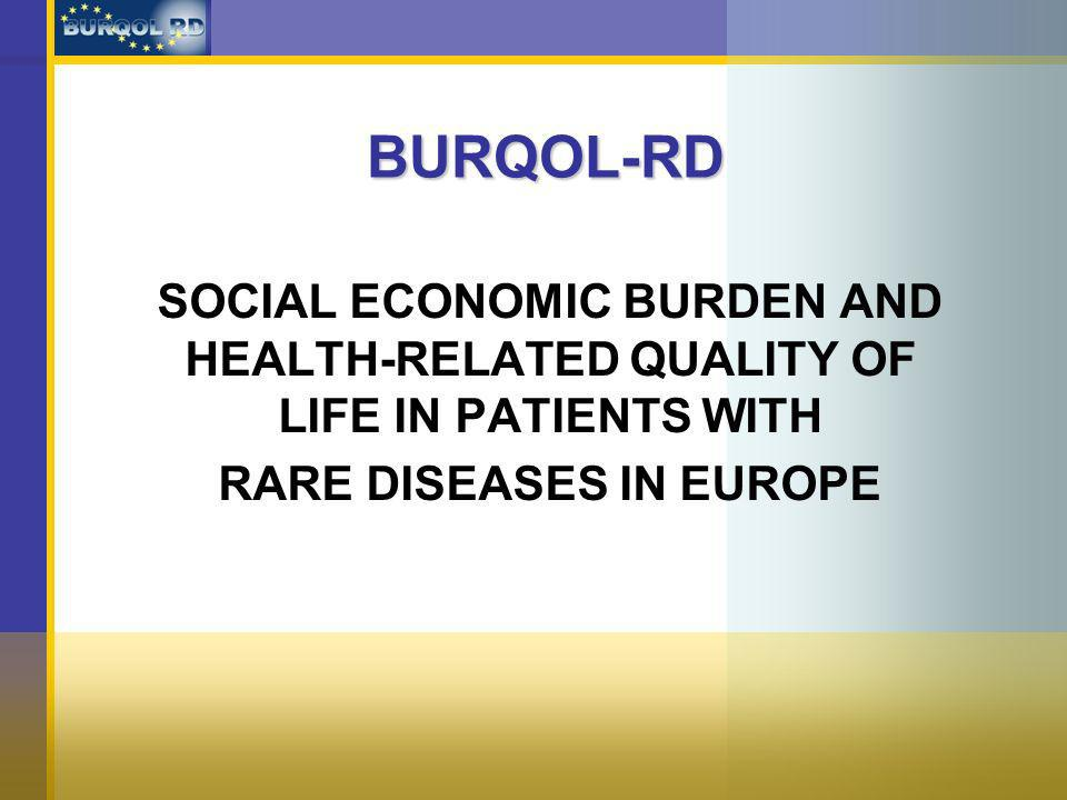 BURQOL-RD SOCIAL ECONOMIC BURDEN AND HEALTH-RELATED QUALITY OF LIFE IN PATIENTS WITH RARE DISEASES IN EUROPE
