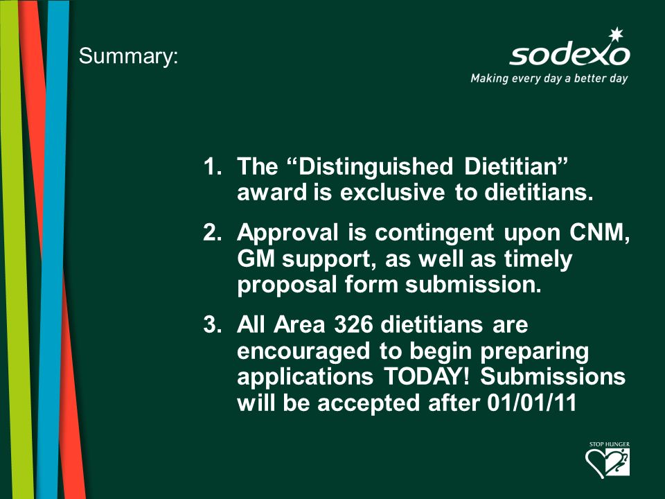 8 1.The Distinguished Dietitian award is exclusive to dietitians.