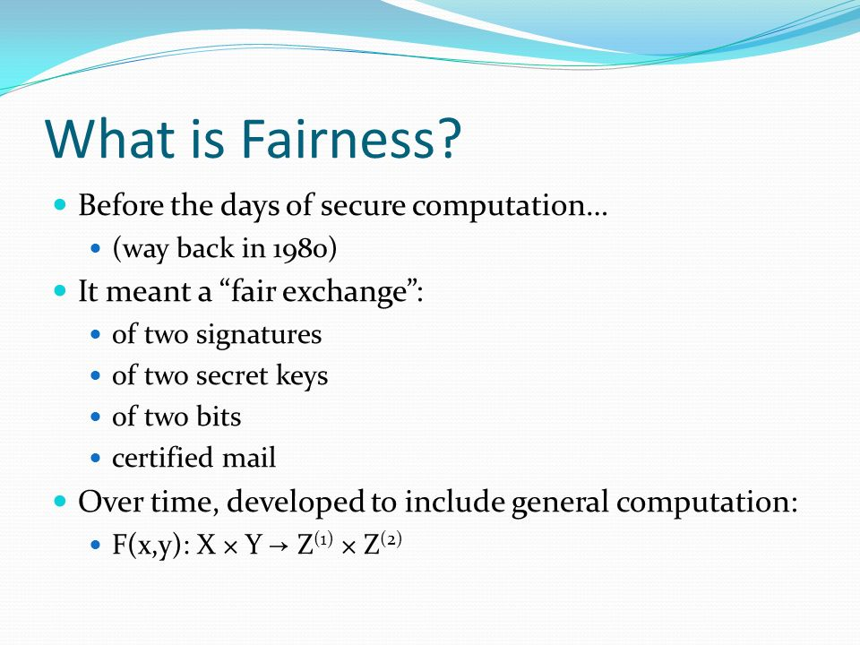 What is Fairness.