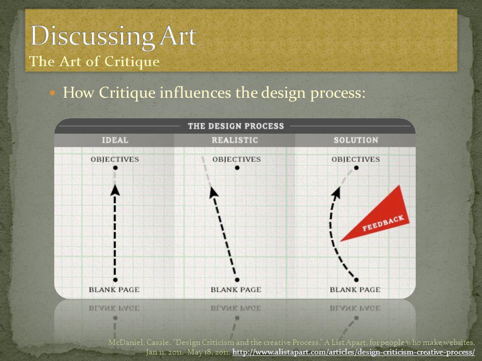 How Critique influences the design process: McDaniel, Cassie.