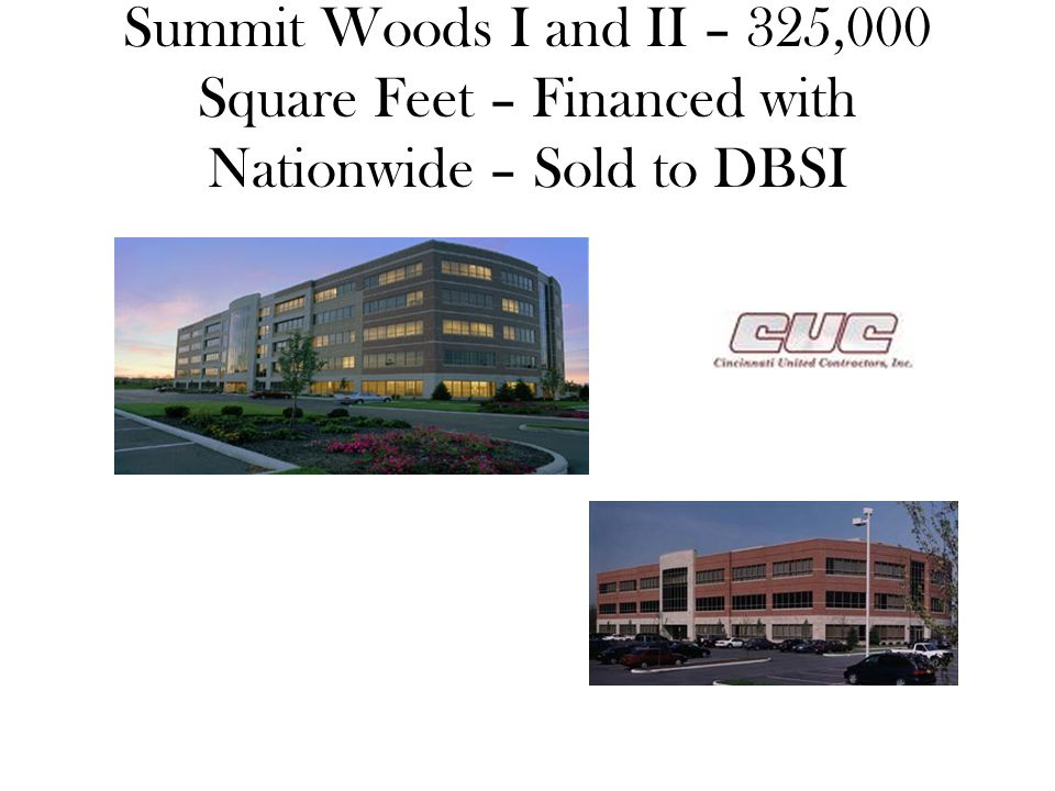 Summit Woods I and II – 325,000 Square Feet – Financed with Nationwide – Sold to DBSI