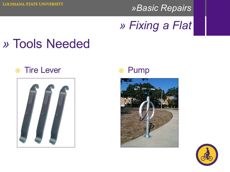 » Fixing a Flat »Basic Repairs » Tools Needed Tire Lever Pump
