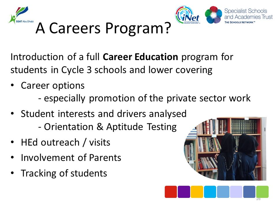 A Careers Program.