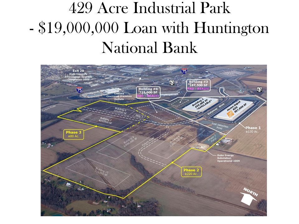 429 Acre Industrial Park - $19,000,000 Loan with Huntington National Bank