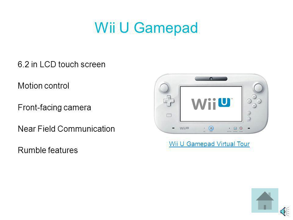 Wii U Console Storage: 8 GB - $299 for Basic Set 32 GB - $349 for Deluxe Set CPU: IBM Power-based multi-core microprocessor GPU: AMD Radeon-based High Definition GPU