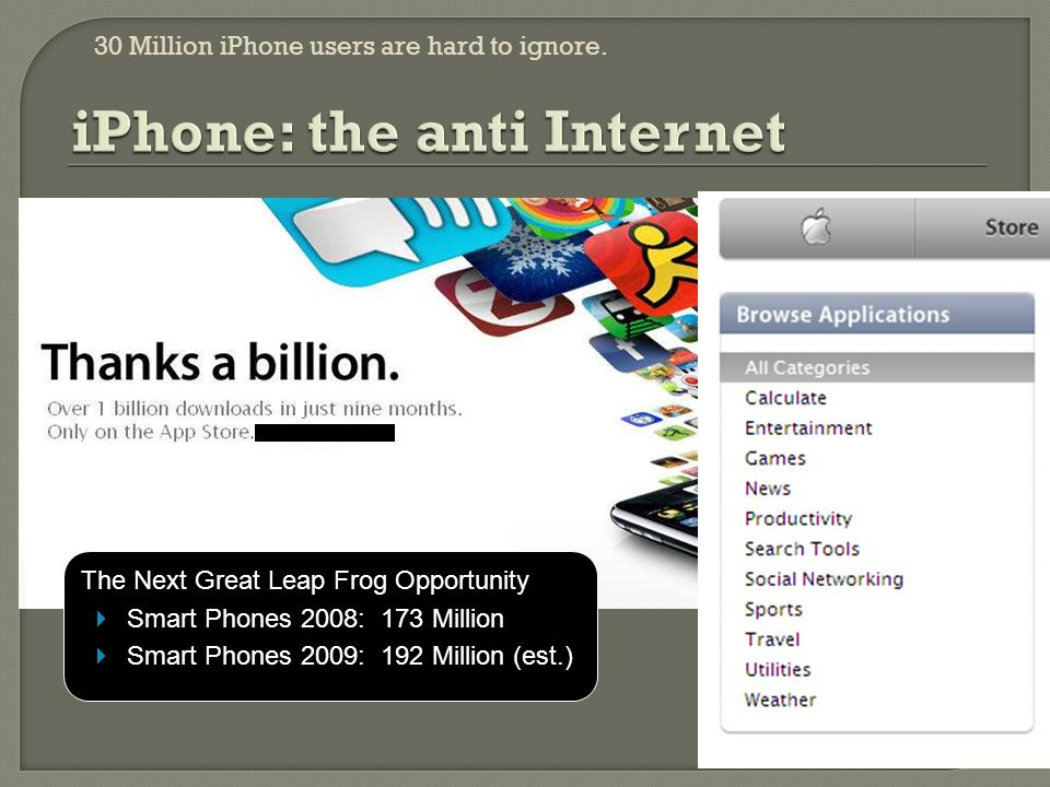 30 Million iPhone users are hard to ignore.