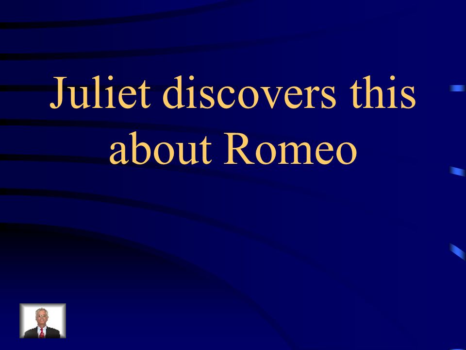 What is the Capulet servant cannot read