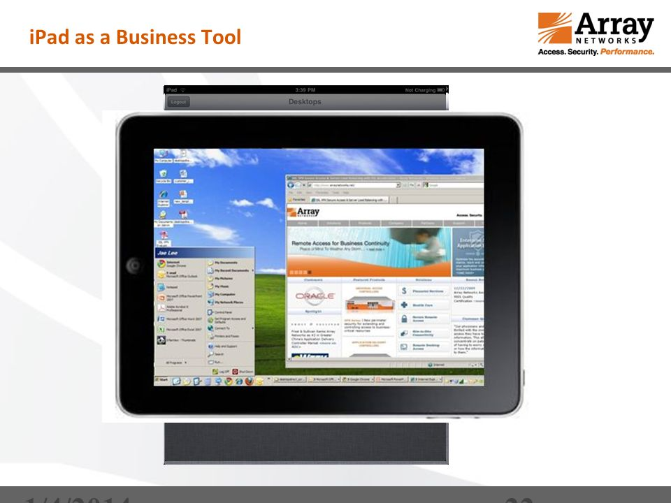 iPad as a Business Tool DesktopDirect – My Desktops Enterprise 1/4/201422