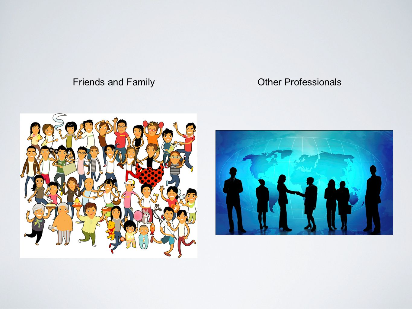 Friends and FamilyOther Professionals