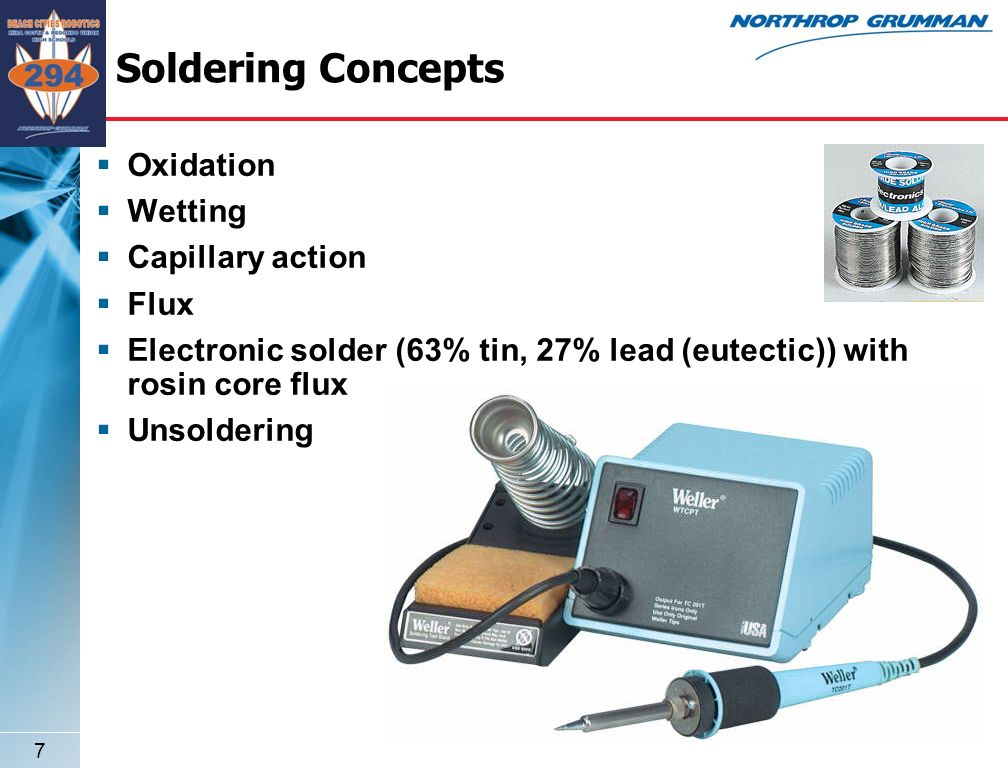 6 Soldering Soldering is a process in which two or more metal items are joined together by melting and flowing a filler metal into the joint, the filler metal having a relatively low melting point.