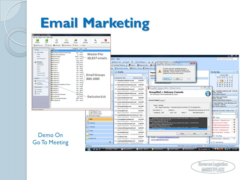 Email Marketing Demo On Go To Meeting
