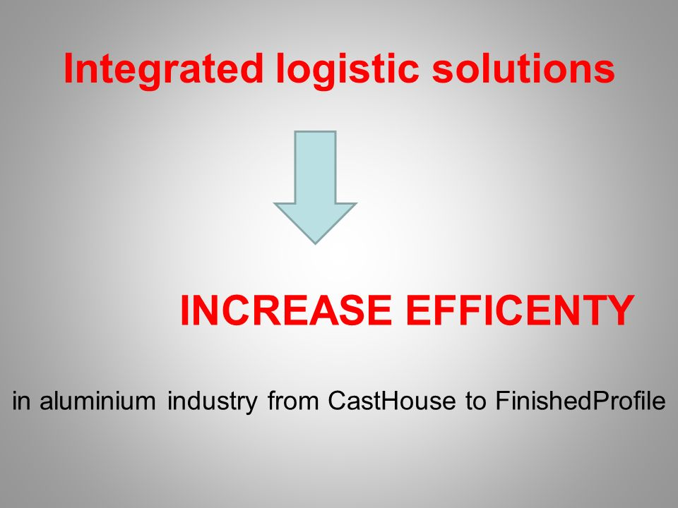 INCREASE EFFICENTY in aluminium industry from CastHouse to FinishedProfile Integrated logistic solutions
