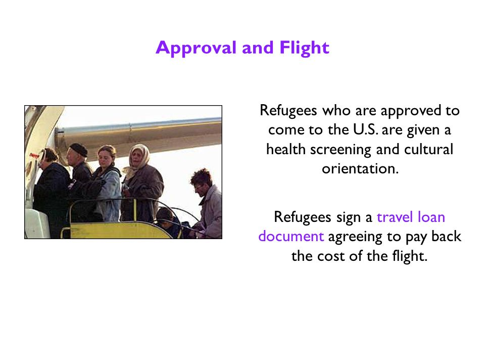 Interview for Resettlement The United Nations officials interview people to determine if their situation qualifies them as refugees.