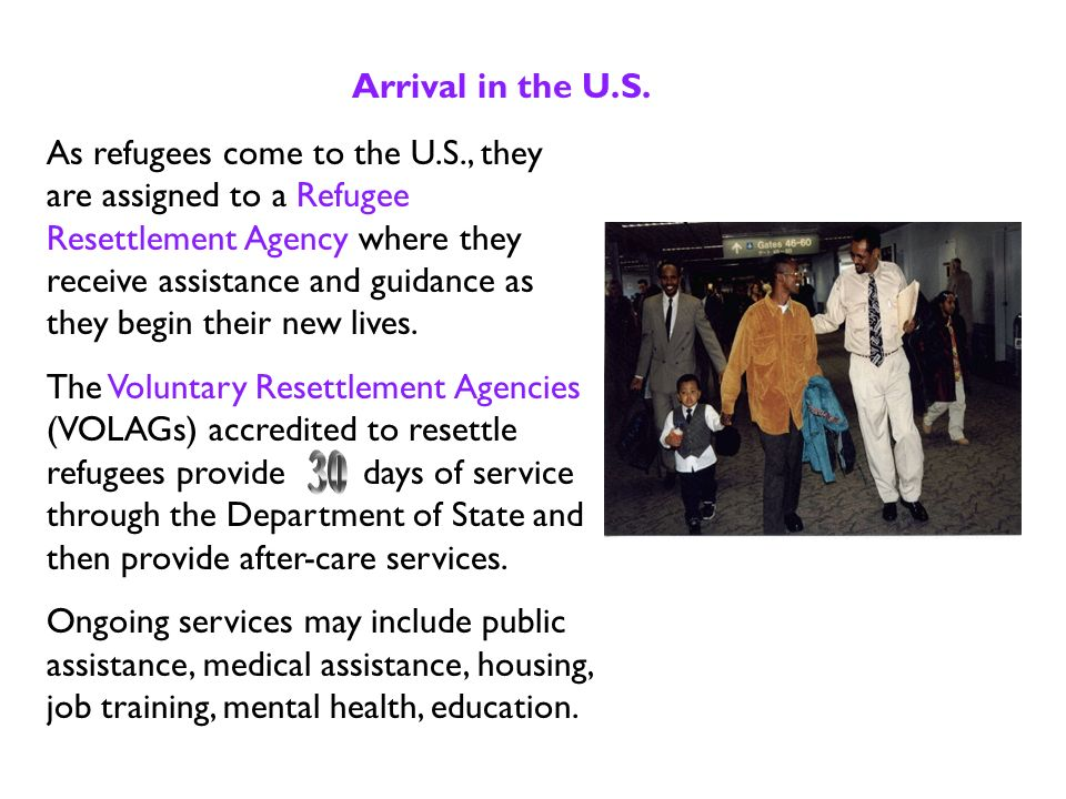 Approval and Flight Refugees who are approved to come to the U.S.
