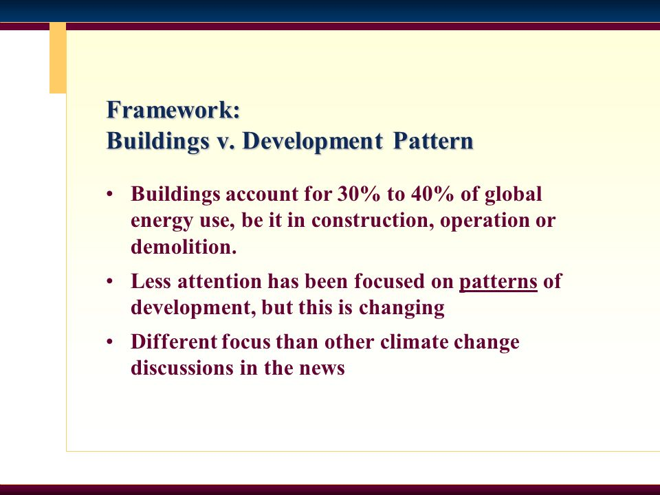 Framework: Buildings v.