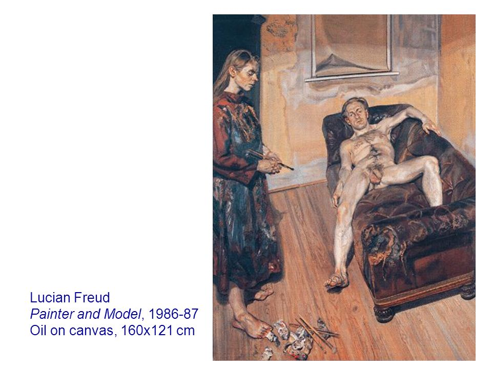 Lucian Freud Painter and Model, Oil on canvas, 160x121 cm