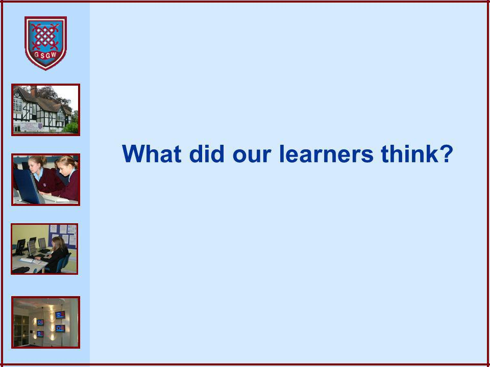 What did our learners think