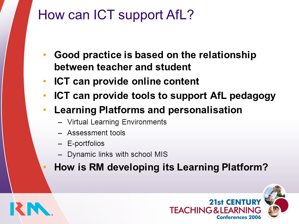 How can ICT support AfL.