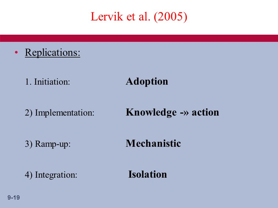 9-19 Lervik et al. (2005) Replications: 1.