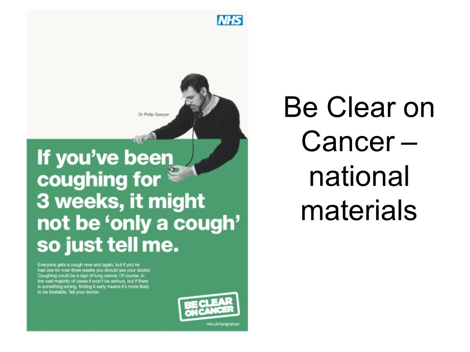 Be Clear on Cancer – national materials