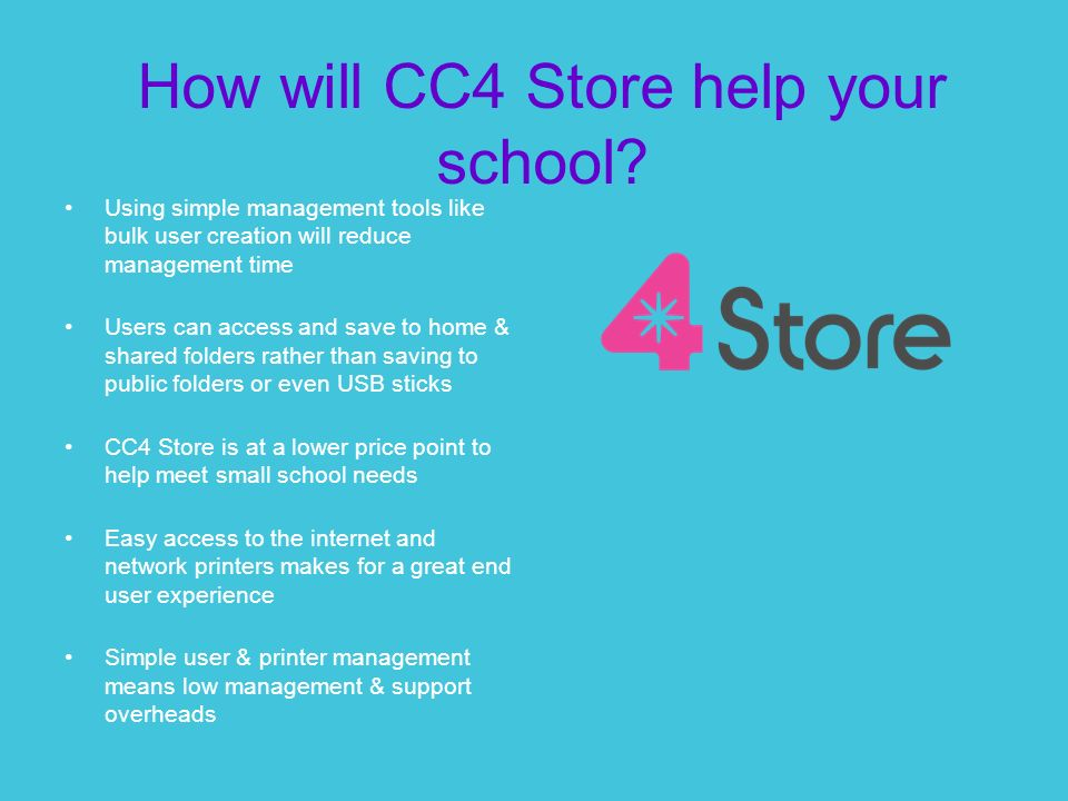How will CC4 Store help your school.