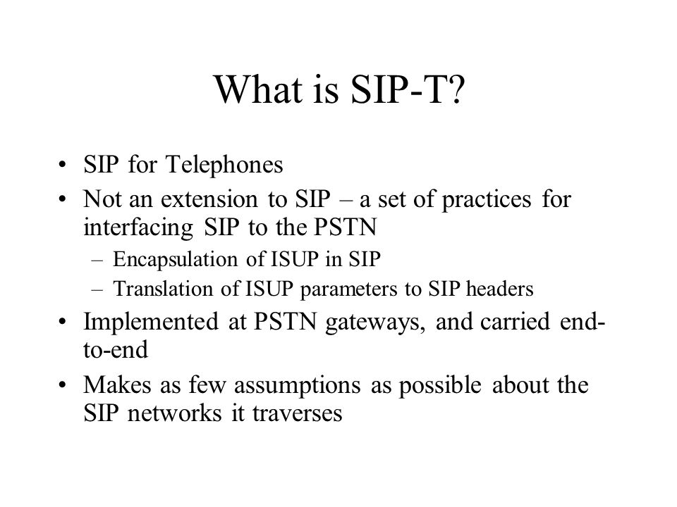 What is SIP-T.