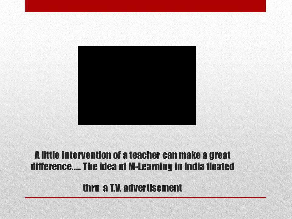 A little intervention of a teacher can make a great difference…..