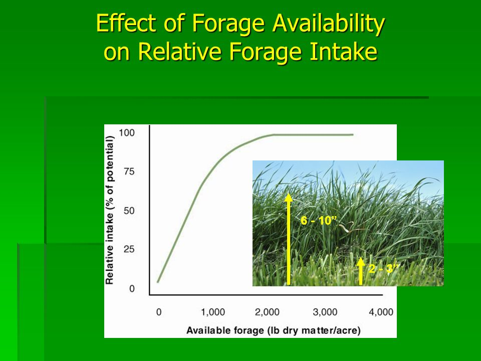 6 - 10 2 - 3 Effect of Forage Availability on Relative Forage Intake