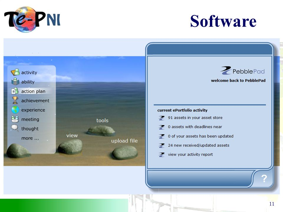 The Teacher e–portfolio (NI) Project 11 Software