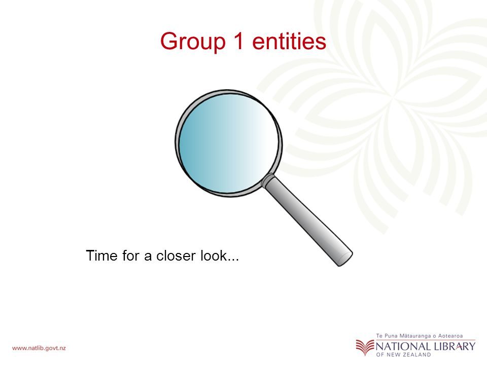 Group 1 entities Time for a closer look...