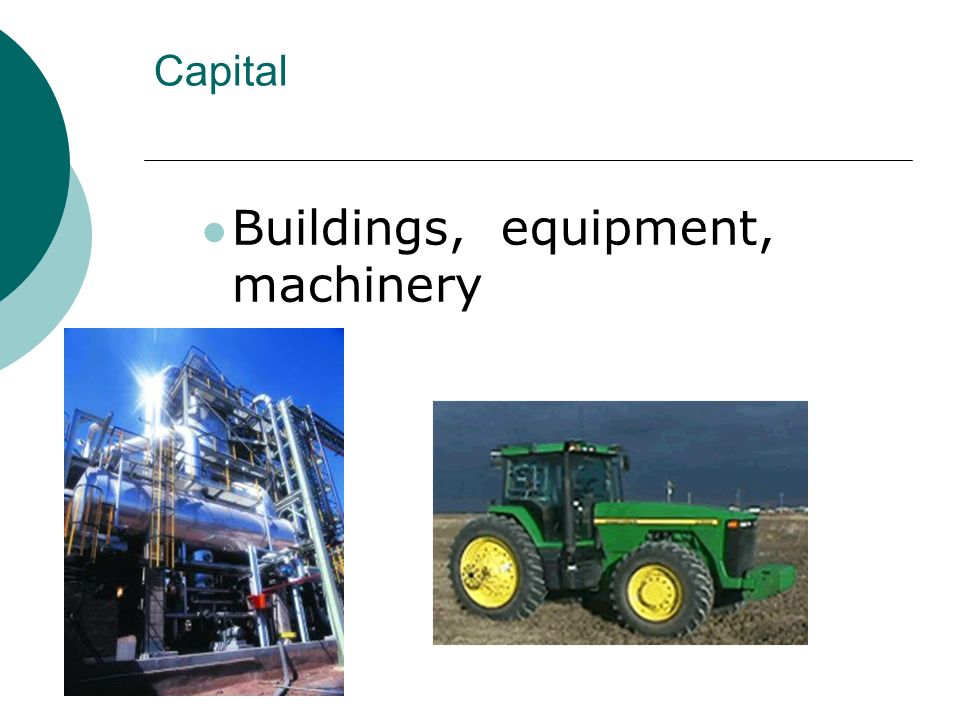 Capital Buildings, equipment, machinery