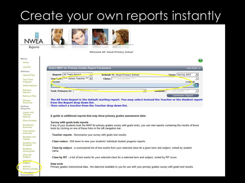 Create your own reports instantly