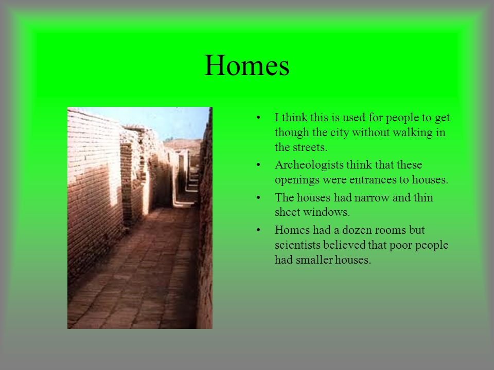 Homes I think this is used for people to get though the city without walking in the streets.