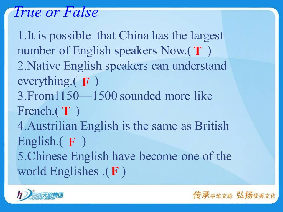 1.How many people spoke English at the end of the 16 th centrury.