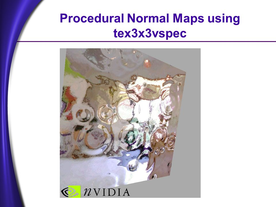 Procedural Normal Maps using tex3x3vspec