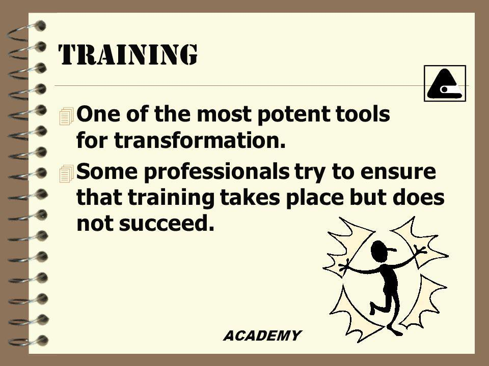 ACADEMY Creative techniques used to sabotage training