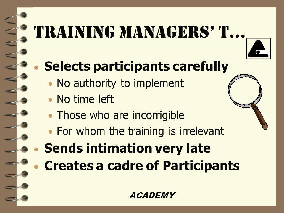 ACADEMY TRAINING MANAGERS t...