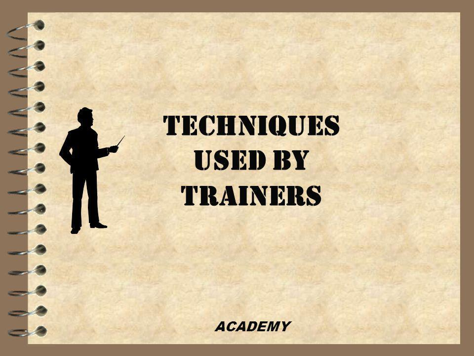 ACADEMY MOST IMPORTANT… NEVER UNDERGO TRAINING themselves