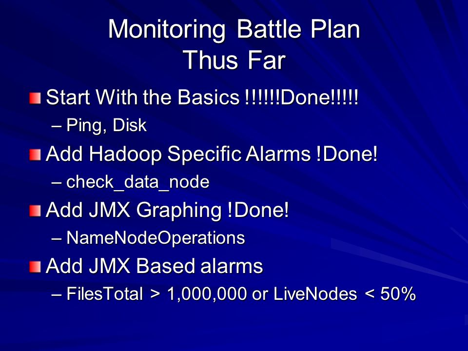 Monitoring Battle Plan Thus Far Start With the Basics !!!!!!Done!!!!.