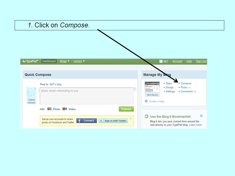 1. Click on Compose.