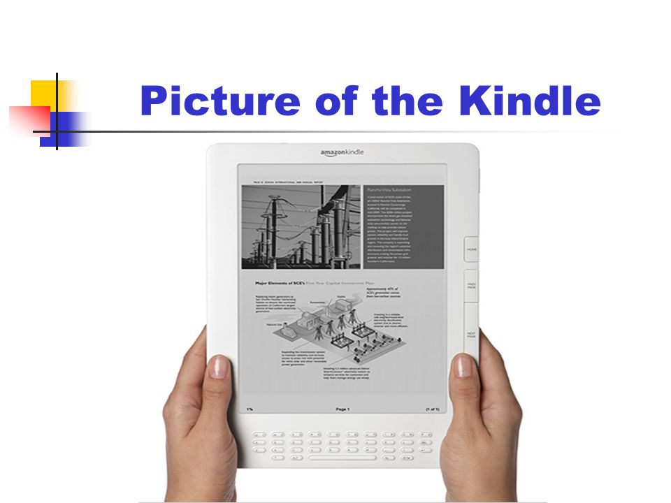 Picture of the Kindle