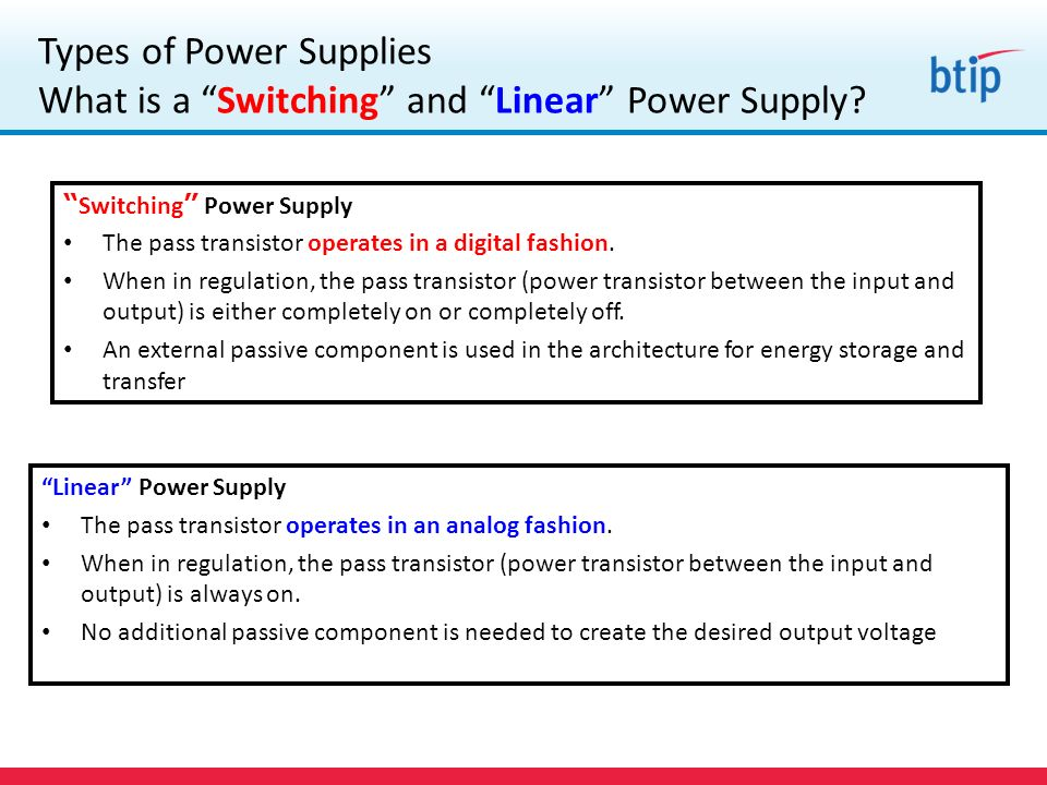 Types of Power Supplies What is a Switching and Linear Power Supply.