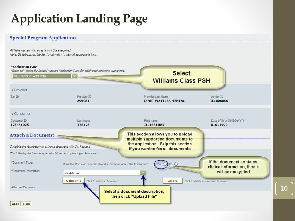 Application Landing Page 10